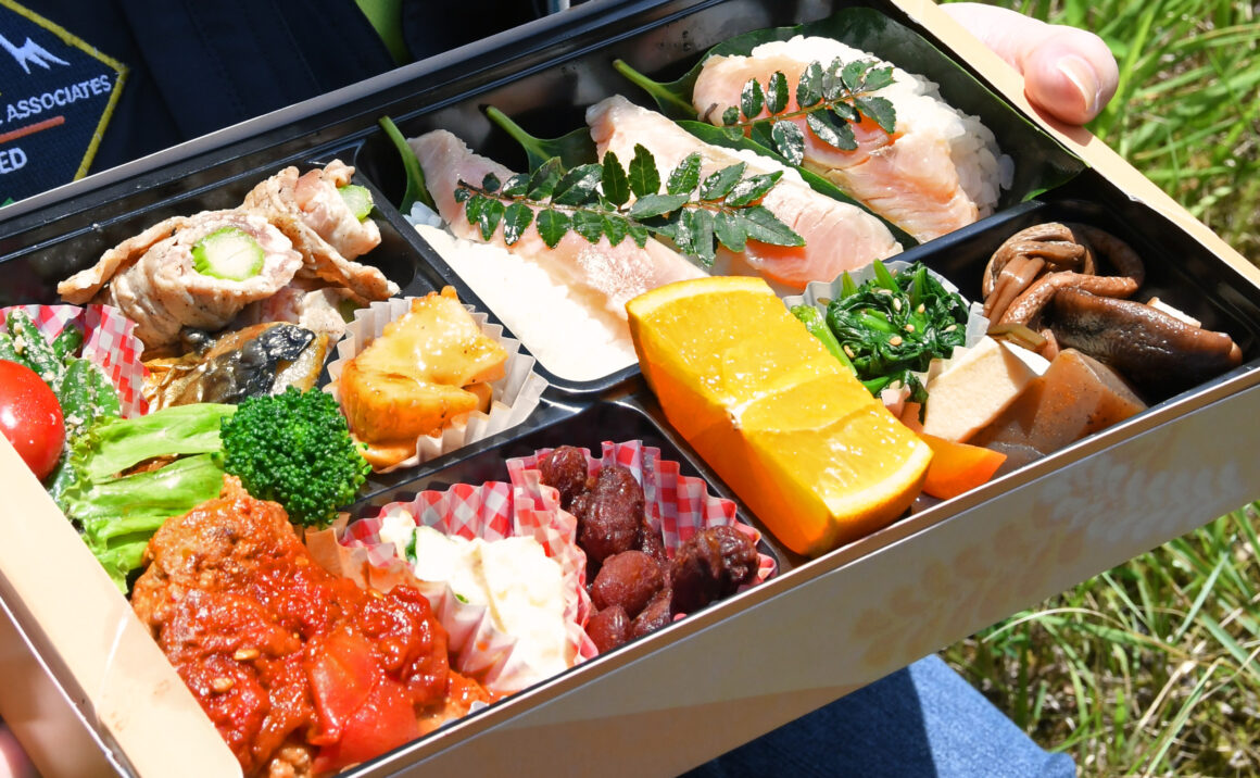 Delicious, Chizu Town's Lunch box with full of taste!