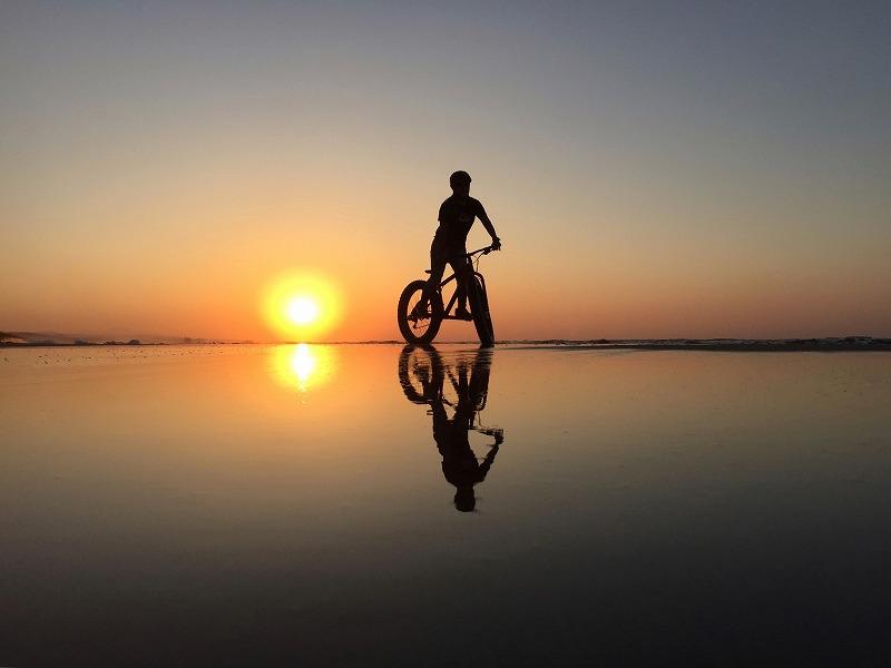 日本のウユニ塩湖で記念撮影