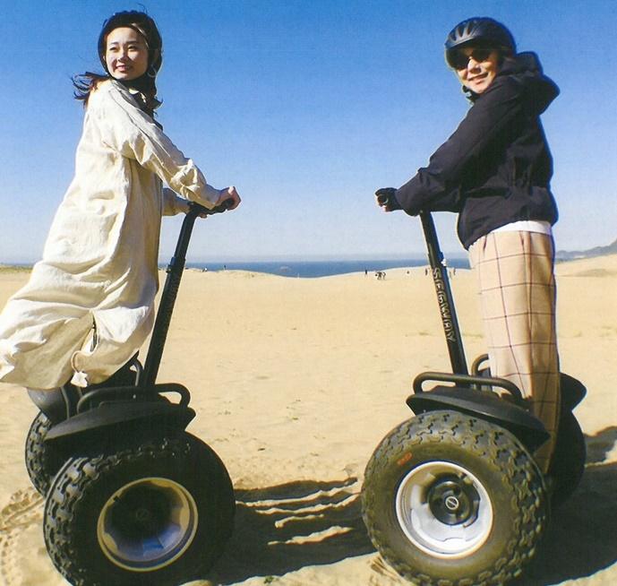 砂丘セグウェイで、砂丘と人の間に新たな感動を !
